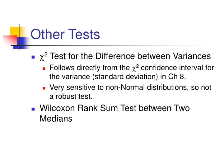 Other Tests