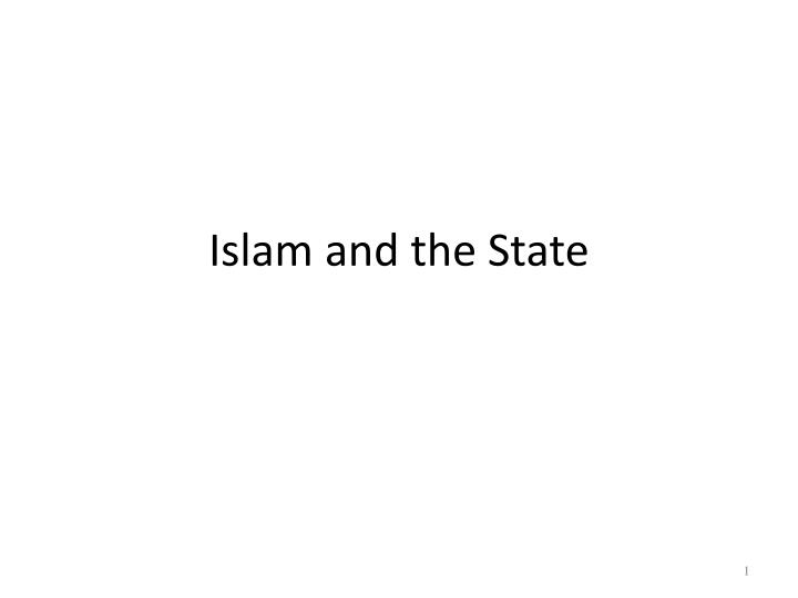 islam and the state n.
