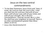 jesus on the two central commandments