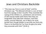 jews and christians backslide