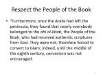 respect the people of the book