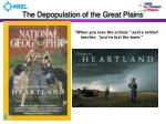 the depopulation of the great plains