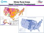 windy rural areas need economic development
