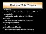 review of major themes