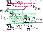 the proposed method for assessment