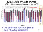 measured system power fifa improvement over windows dvfs