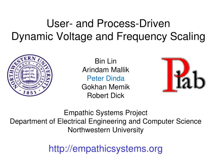 user and process driven dynamic voltage and frequency scaling n.