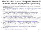 work in context of power management efforts in the empathic systems project empathicsystems org