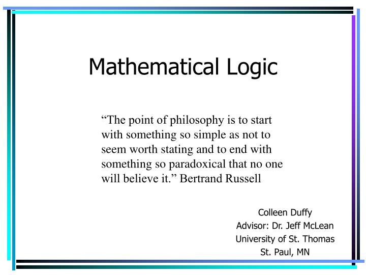 mathematical logic n.
