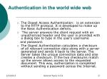 authentication in the world wide web1