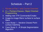 schedule part 2