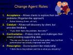 change agent roles