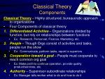 classical theory components