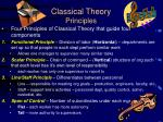 classical theory principles