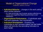 model of organizational change robertson roberts porras