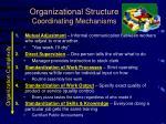 organizational structure coordinating mechanisms