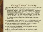 going further activity