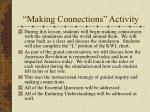 making connections activity