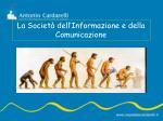 la societ dell informazione e della comunicazione1