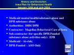 history and evolution iowa plan for behavioral health january 1999 and july 2004