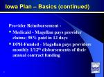 iowa plan basics continued