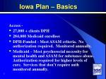 iowa plan basics