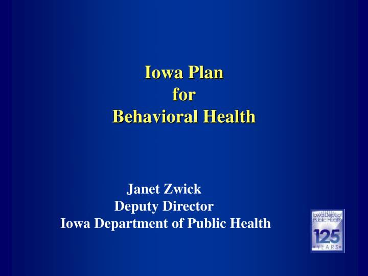 iowa plan for behavioral health n.