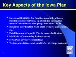 key aspects of the iowa plan