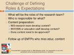 challenge of defining roles expectations