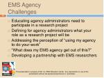 ems agency challenges