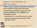 impact of accreditation on ems providers