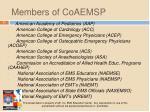 members of coaemsp