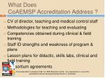 what does coaemsp accreditation address1