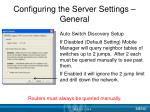 configuring the server settings general