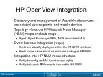 hp openview integration