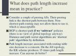 what does path length increase mean in practice