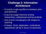 challenge 2 information architecture