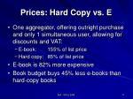 prices hard copy vs e