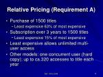 relative pricing requirement a