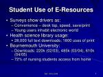 student use of e resources