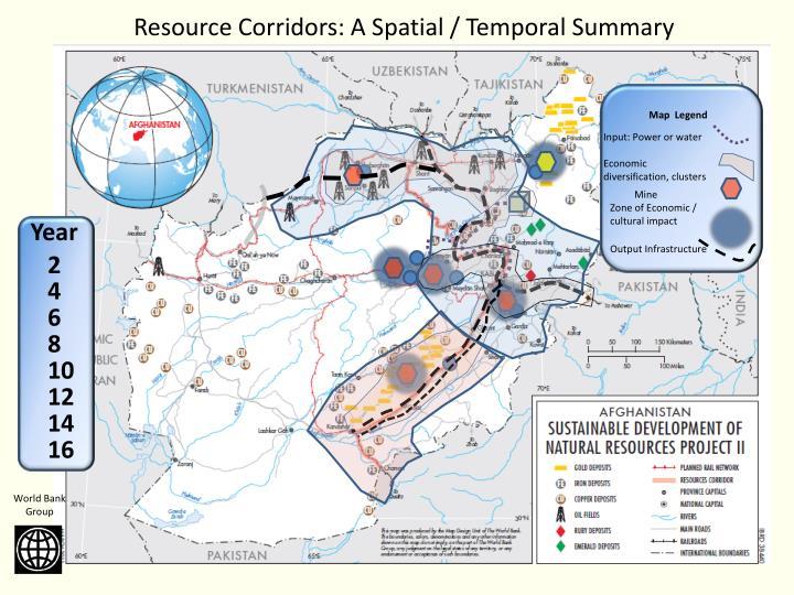 Resource Corridors: A Spatial / Temporal Summary