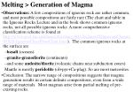 melting generation of magma