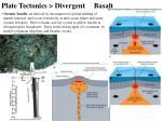plate tectonics divergent basalt