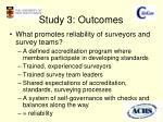 study 3 outcomes