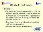 study 4 outcomes