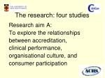 the research four studies1