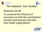 the research four studies2