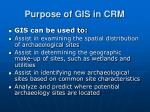 purpose of gis in crm