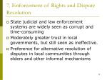 7 enforcement of rights and dispute resolution