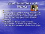 social studies skills and methods1